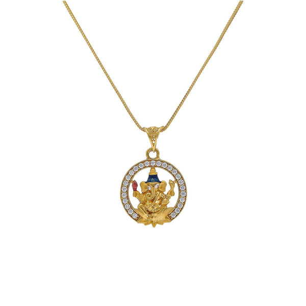 An image of an Indian pendant featuring Ganesh from Virani Jewelers. | Add unique style to your look with this gorgeous Ganesh pendant from Virani Jewelers!  Features a...
