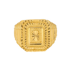 22K Yellow Gold Rustic Men's Ring (10.7 grams)