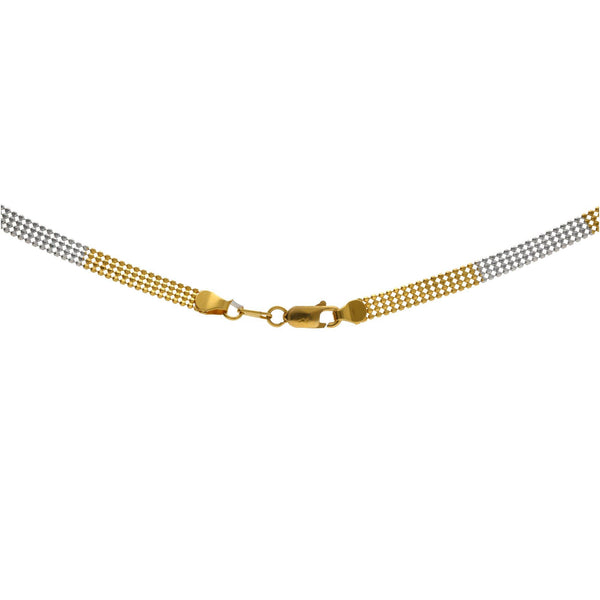 22K Multi Gold Singapore Dazzling Chain W/ Length 16inches |    Gift yourself a contemporary design that complements your ethnic wear as beautifully as ever. ...
