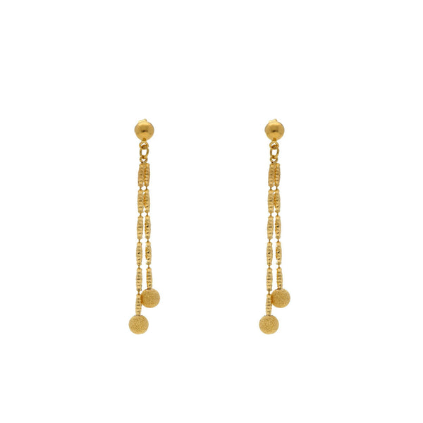 22K Yellow Gold Singapore set with Earrings |    A very subtle and elegantly designed 22K yellow gold necklace with earrings along with a class...