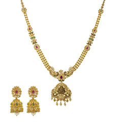 22K Gold & Uncut Diamond Chahna Jewelry Set