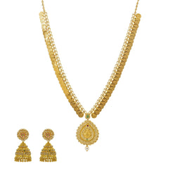 An image of the Abha Mangalsutra 22K gold necklace set from Virani Jewelers.