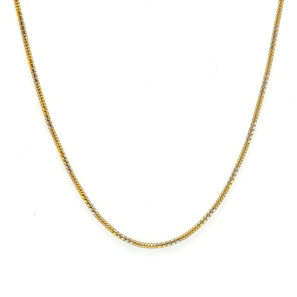 22K Multi Tone Gold Chain For Kids W/ Double Weight Box Link | 22K Multi Tone Gold Chain For Kids W/ Double Weight Box Link. The unique design on the 22K multi ...