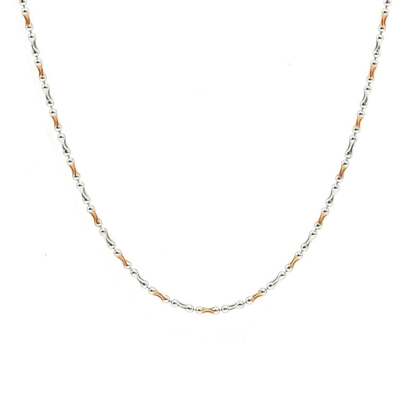 22K Multi Tone Gold Chain W/ Rounded Hourglass Beads | 22K Multi Tone Gold Chain W/ Rounded Hourglass Beads. This unique 22K multi tone gold chain featu...
