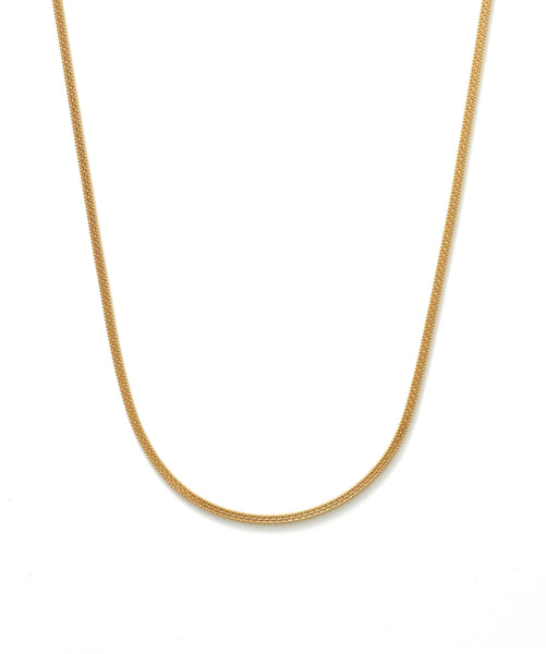 22K Yellow Gold Men's Flat Chain W/ Double Link & Ball Chain, 22 Inches - Virani Jewelers | Add a hint of masculine radiance to your look with this handsome 22 inch, 22K yellow gold men's f...