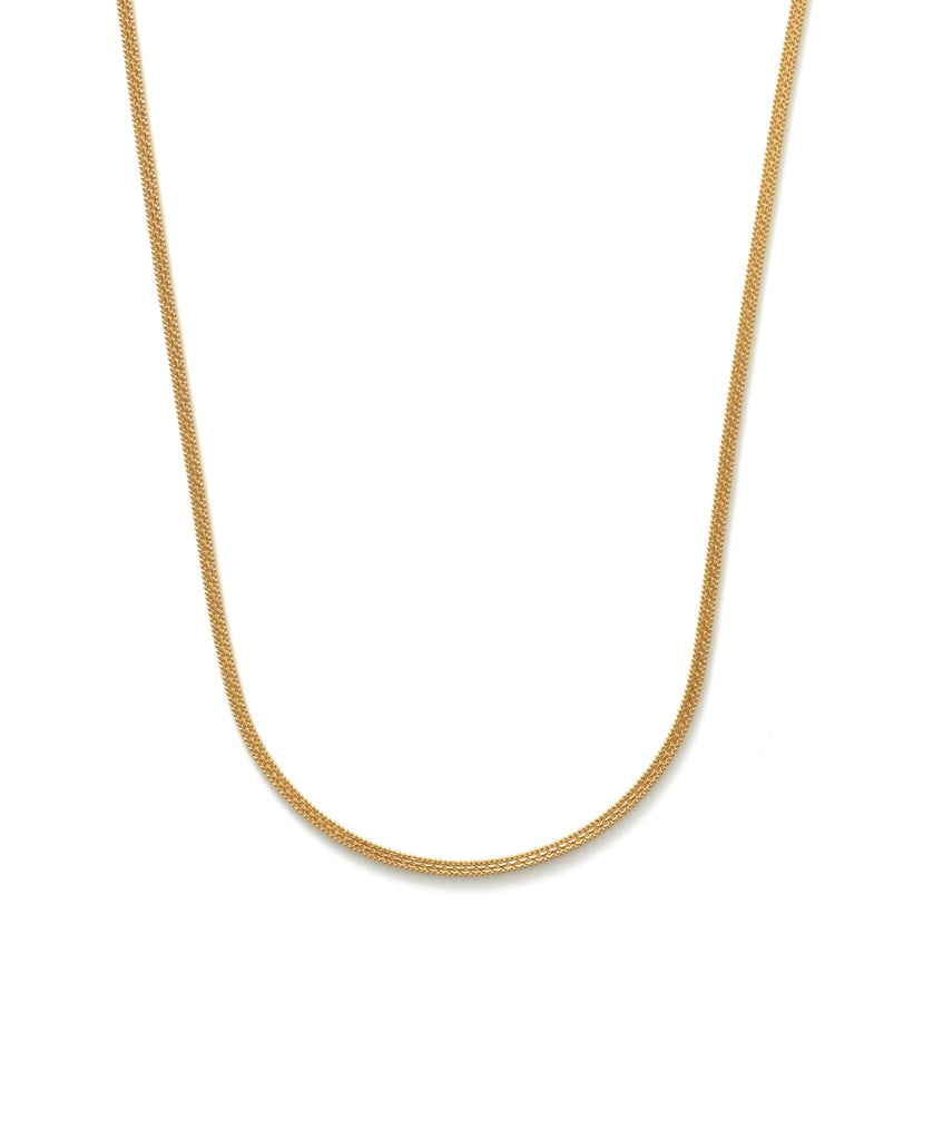 22K Yellow Gold Men's Flat Chain W/ Double Link & Ball Chain, 23 Inches | Add a hint of masculine radiance to your look with this handsome 23 inch, 22K yellow gold men's f...