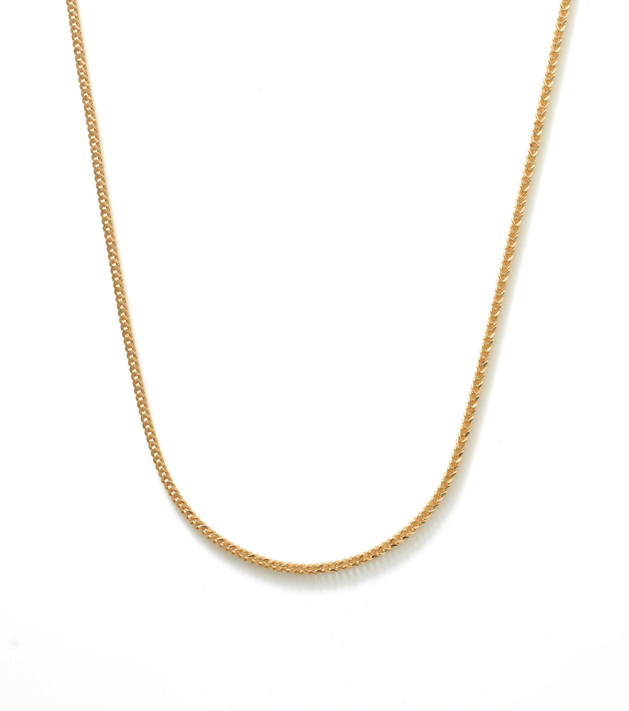 22K Yellow Gold Men's Link Chain W/ Rounded Curb Link, 24 Inches | Add a hint of masculine radiance to your look with this handsome 24 inch 22K yellow gold men's li...