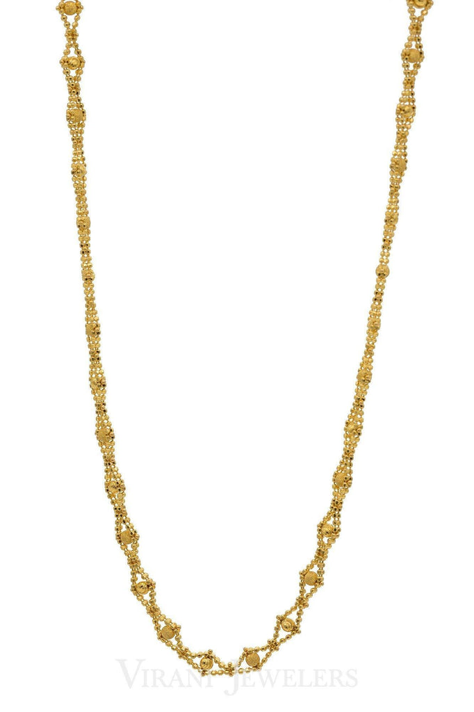 22K Gold Chain | A fashion faithful Chain crafted in 22k gold. Adds a stylish glow to any outfit and secure fit pr...