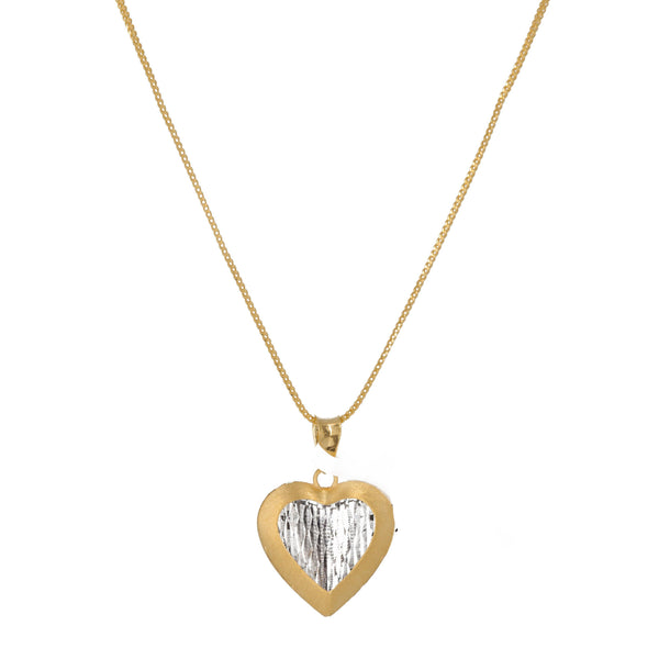 22K Two Tone Gold Heart Shaped Necklace Pendant & Earrings Set | 22K Two Tone Gold Heart Shaped Necklace Pendant & Earrings Set for women. Necklace pendant an...