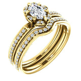 Cushion Diamond Halo Pave Engagement Ring |
