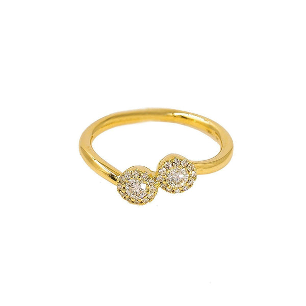 14K Gold Diamond Ring - Virani Jewelers | Ring Size 4. Minimum Width of the Band 1 mm. Maximum Width of the band 4 mm.