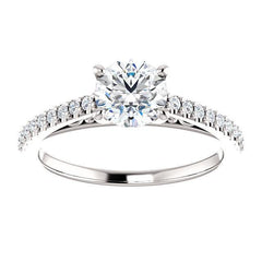 Four Prong Solitaire Diamond Engagement Ring