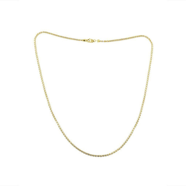 22K Multi Tone Gold Chain W/ Textured Link Pattern & Bead-Like Accents |  22K Multi Tone Gold Chain W/ Textured Link Pattern & Bead-Like Accents for women. This brill...
