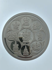 Multi God Silver Coin with OM engraved on the back