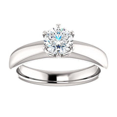 Infinite Six Prong Solitaire Diamond Engagement Ring