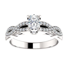 Infinity Halo Diamond Engagement Ring