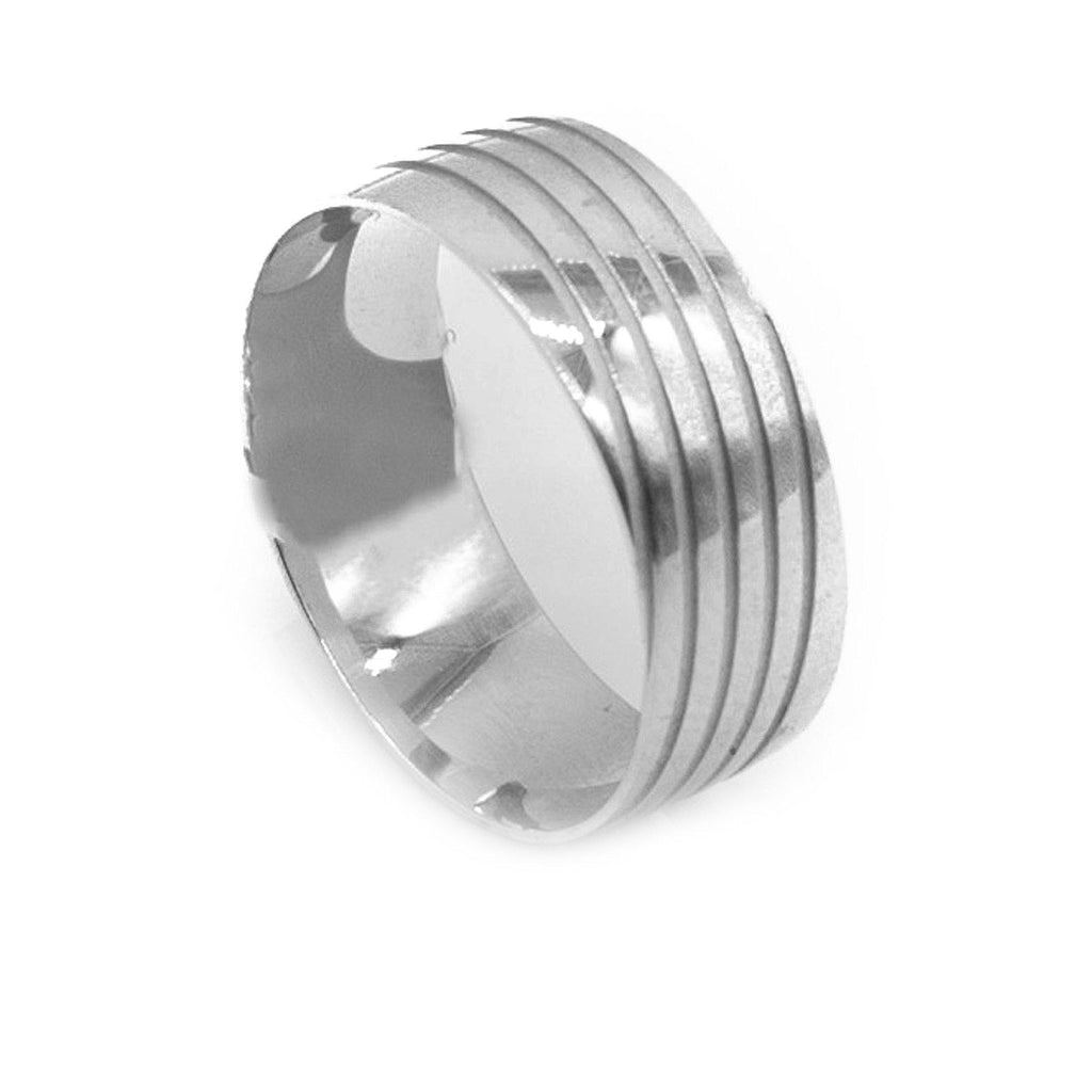 18K White Gold Band for Men W/ Striped Engravement | 18K White Gold Band for Men W/ Striped Engravement. Unique and subtle design to maintain minimali...