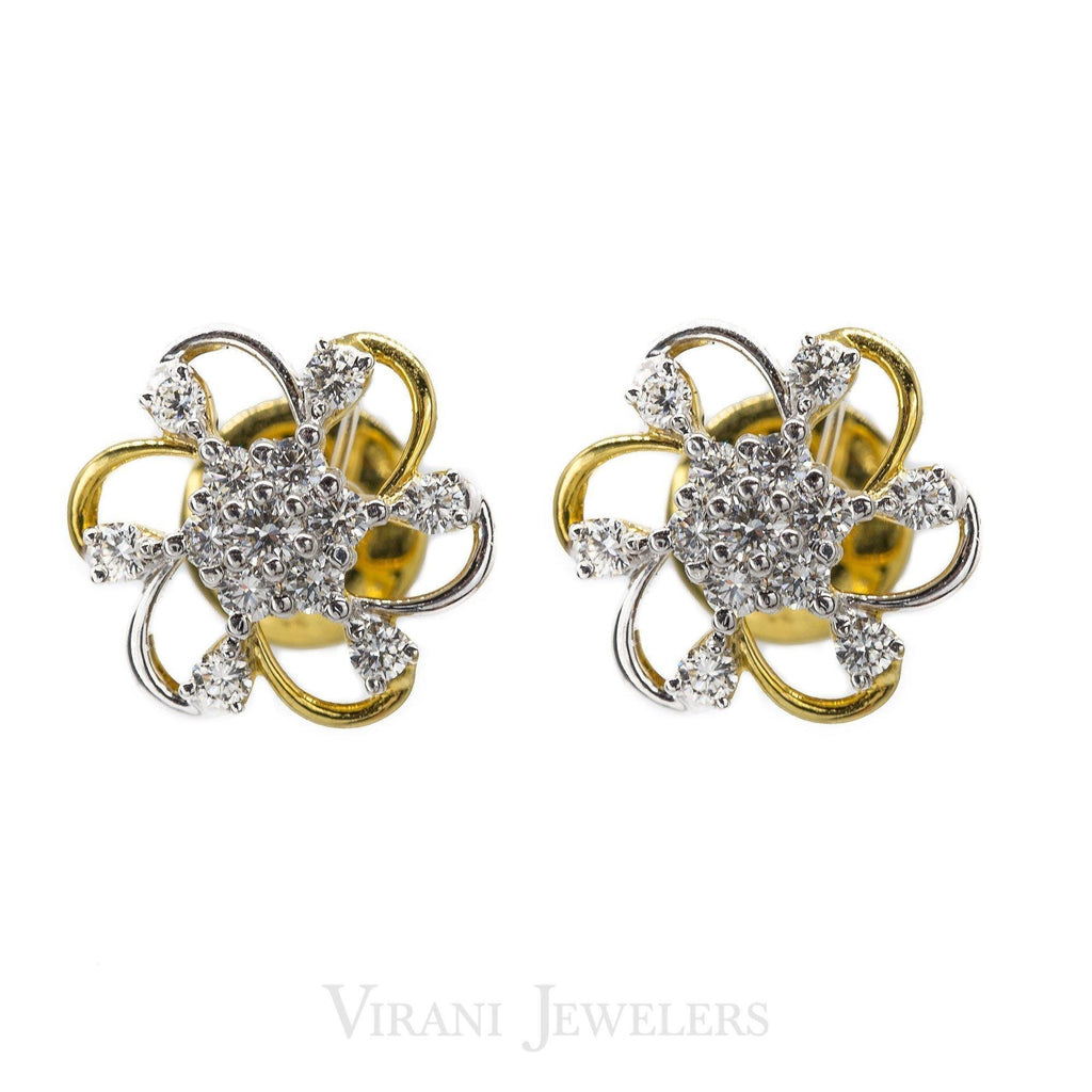 0.62CT Daisy Diamond Stud Earrings Set in 18K Yellow Gold | .62CT Daisy Diamond Stud Earrings Set in 18K Yellow Gold for women. Beautiful hand crafted floral...
