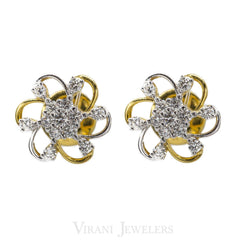 0.62CT Daisy Diamond Stud Earrings Set in 18K Yellow Gold - Virani Jewelers