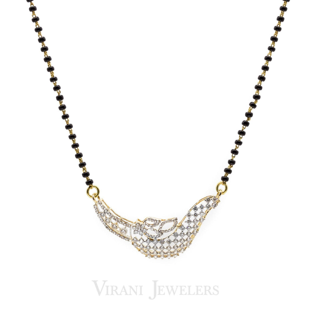 1.12 CT Diamond Pendant Mangalsutra Set in 18K Yellow Gold W/ Sultry Sled Design | 1.12 CT Diamond Pendant Mangalsutra Set in 18K Yellow Gold W/ Sultry Sled Design for women. Gold ...