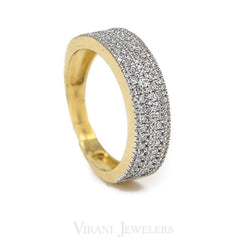 0.53CT Diamond Encrusted Ring Set in 14K Yellow Gold