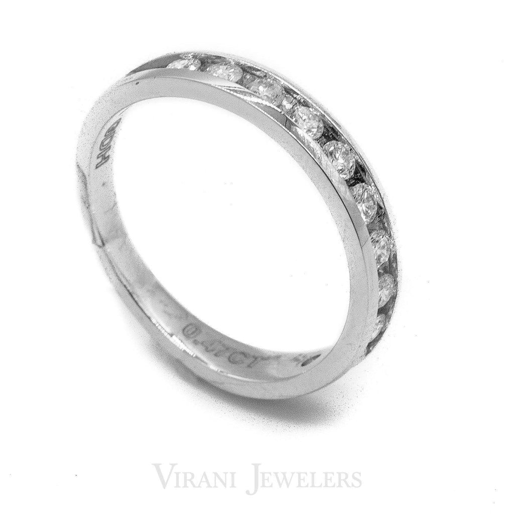0.47CT Round Brilliant Diamond Band Ring Set in 14k White Gold | 0.47CT Round Brilliant Diamond Band Ring Set in 14k White Gold for women. Stunning diamonds set a...