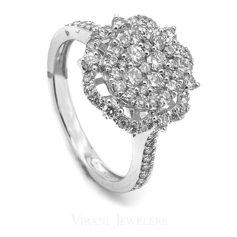 14K White Gold Diamond Ring | 14kt White-Gold Diamond Ring