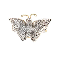 1.04CT Diamond Butterfly Pendant Set In 18K Yellow Gold