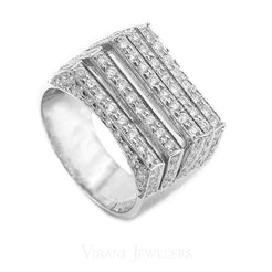 1.71CT Diamond Five Frame Ring Set in 18K White Gold
