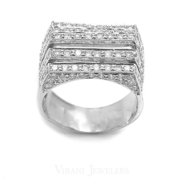 1.71CT Diamond Five Frame Ring Set in 18K White Gold | 1.71CT Diamond Five Frame Ring Set in 18K White Gold for women. This luxurious ring is featured w...
