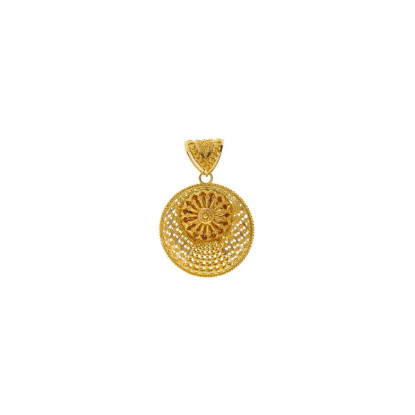 22K Gold Aalia Pendant |    The 22K Gold Aalia Pendant from Virani Jewelers will add glamour to your basic gold chain. Thi...