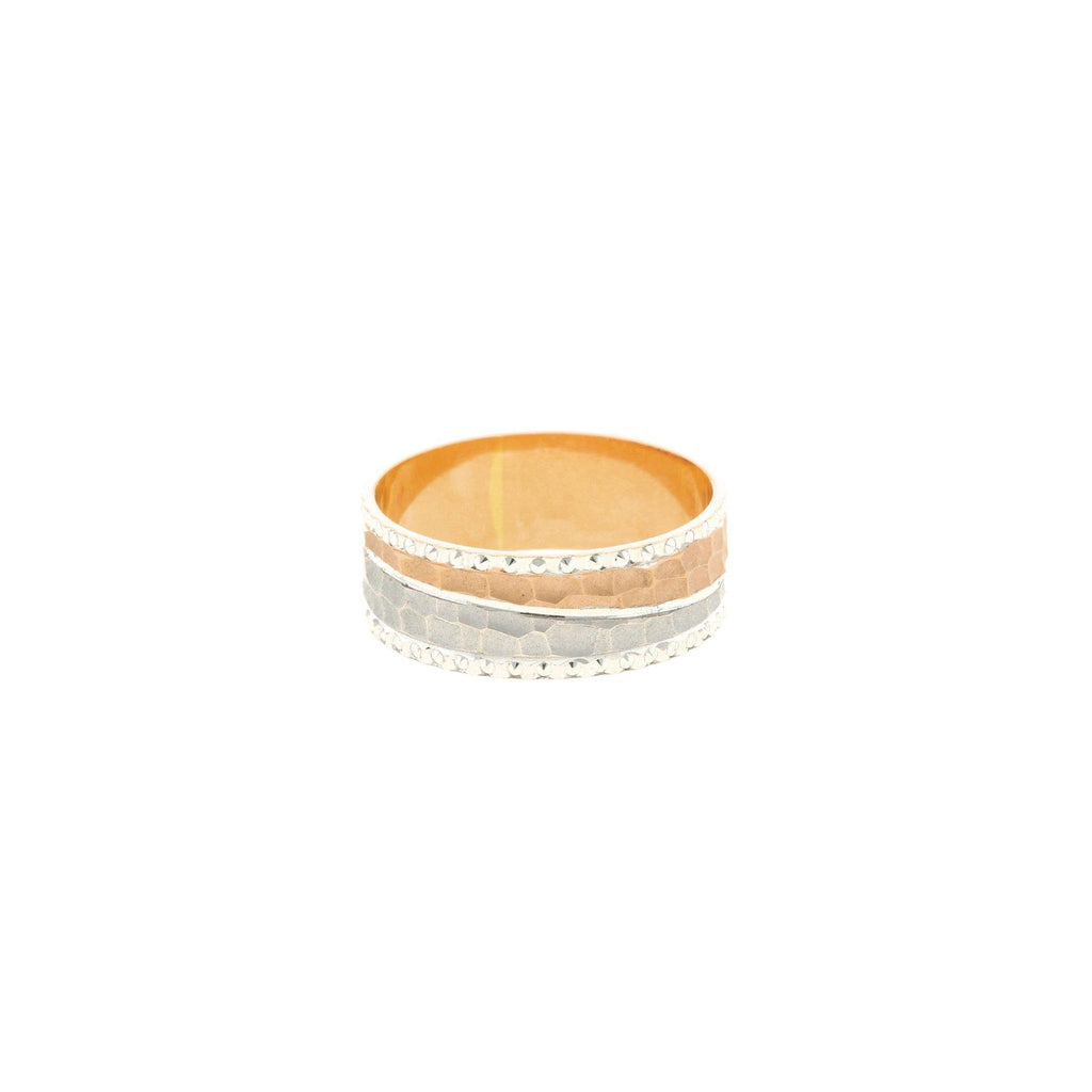 18K White & Rose Gold Artisan Ring |    The 22K White & Rose Gold Artisan Ring from Virani Jewelers has a chic design that makes t...