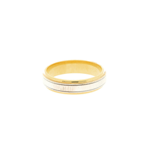 22K Yellow & White Gold Modern Men's Ring - Virani Jewelers |    The 22K Yellow & White Gold Modern Men's Ring from Virani Jewelers is a great ring for men...