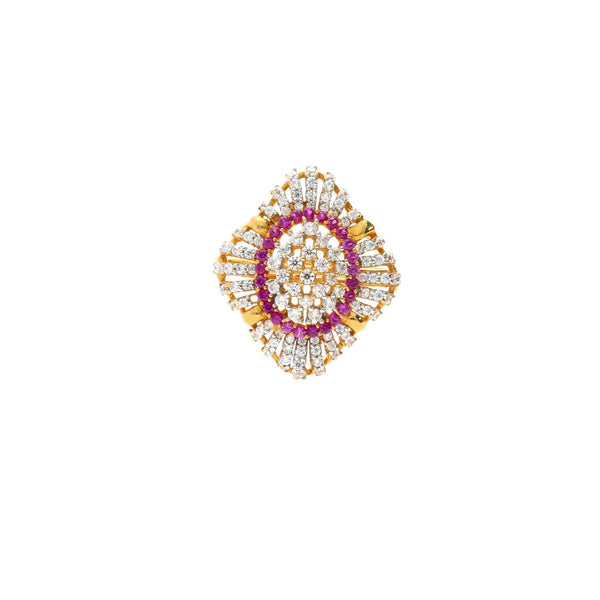 22K Gold & Gemstone Delicate Peacock Ring |    The 22K Gold & Gemstone Delicate Peacock Ring from Virani Jewelers is just what you need t...