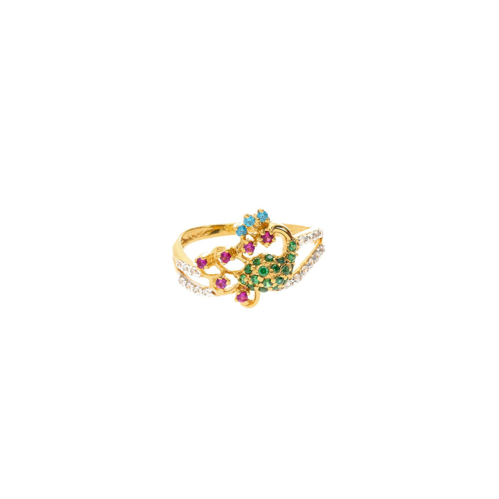 22K Gold Exquisite Gemstone Ring |    Add a touch of elegance to your outfits with the 22K Gold Exquisite Gemstone Ring from Virani ...