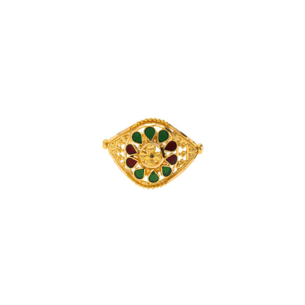 22K Gold & Enamel Allure Ring |    The 22K Gold & Enamel Allure Ring from Virani Jewelers is a one of a kind design. This lux...