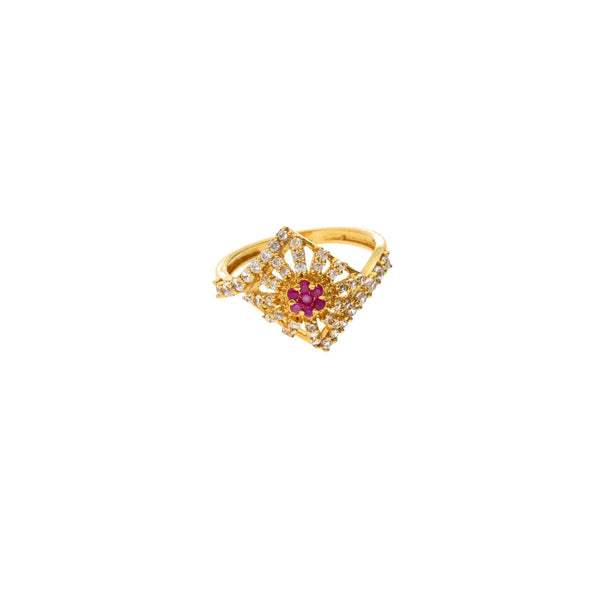 22K Gold & Enamel Decadence Ring |    Sparkle and shine at your next formal event with the 22K Gold & Enamel Decadence Ring from...