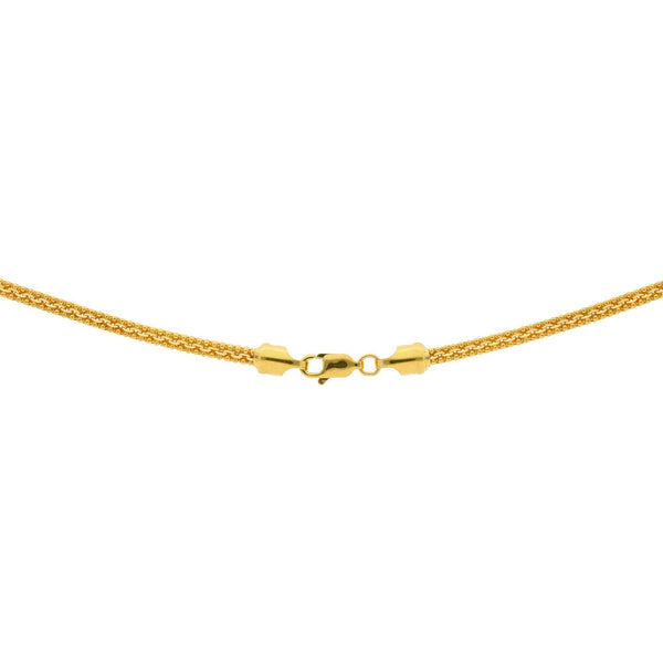 An image of the lobster claw clasp of the 22K gold rounded ball link chain from Virani. | Fall in love with this classic design when you shop our 22K gold chains at Virani Jewelers!  Feat...