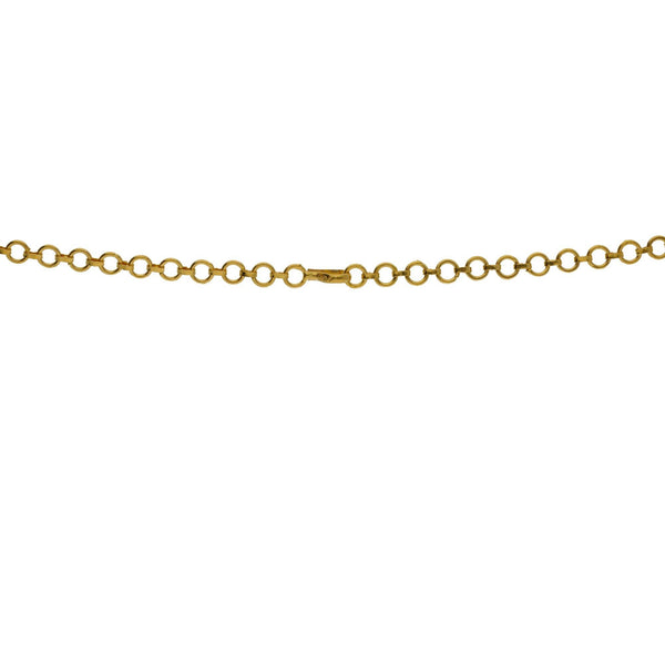 An image of the gold clasp on an Indian necklace from Virani Jewelers | Searching for elegant 22K yellow gold jewelry to complement your formal attire? Check out this ne...