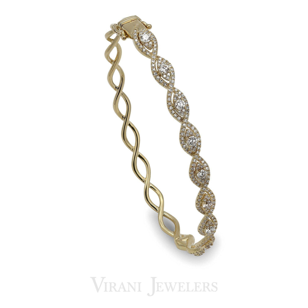 14k Gold Diamond Bangle |