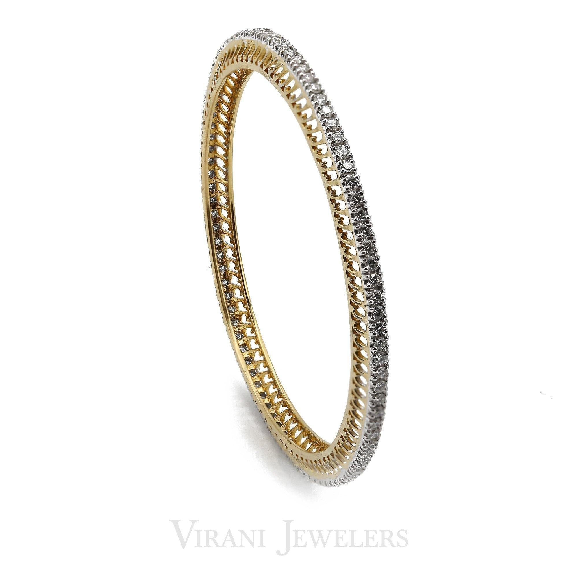 filigreed a in bangle gold w white bracelet diamond bangles pave