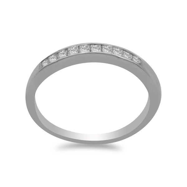 0.27CT Round Brilliant Diamond Band Ring Set in 14K White Gold | 0.27CT Round Brilliant Diamond Band Ring Set in 14K White Gold for women. A gorgeous ring with ha...