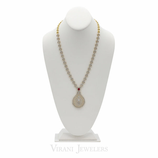 11.25CT Diamond Heart Link Chain Necklace & Earring Set in 18K Yellow Gold | 11.25CT Diamond Heart Link Chain Necklace & Earring Set in 18K Yellow Gold for women. Necklac...