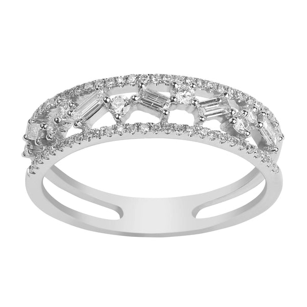 14K White Gold Diamond Ring |