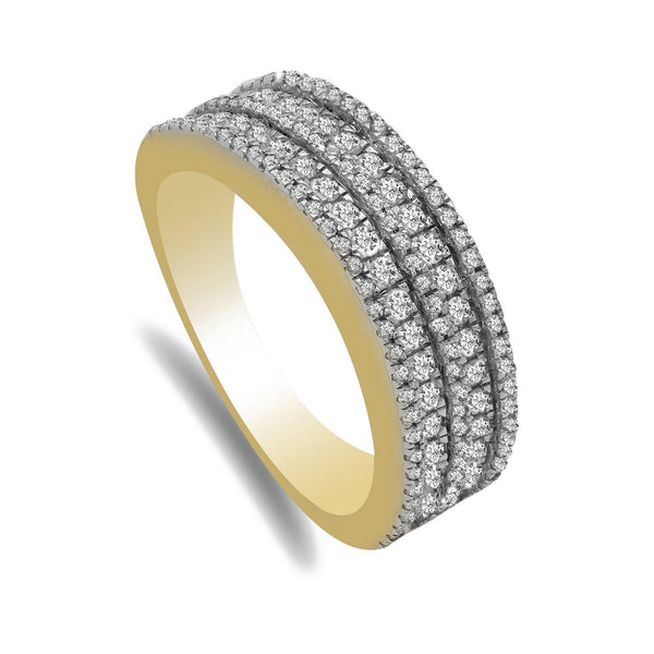 Multi-row Pave 0.77CT Diamond Band Set in 14K Yellow Gold | Multi-row Pave 0.77CT Diamond Band Set in 14K Yellow Gold. Diamond band features multiple rows of...