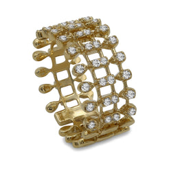 0.4CT DIamond Eternity Band in 14K Yellow Gold W/ Gatework Design
