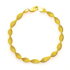 22K Yellow Gold Bracelet W/ Singapore Link