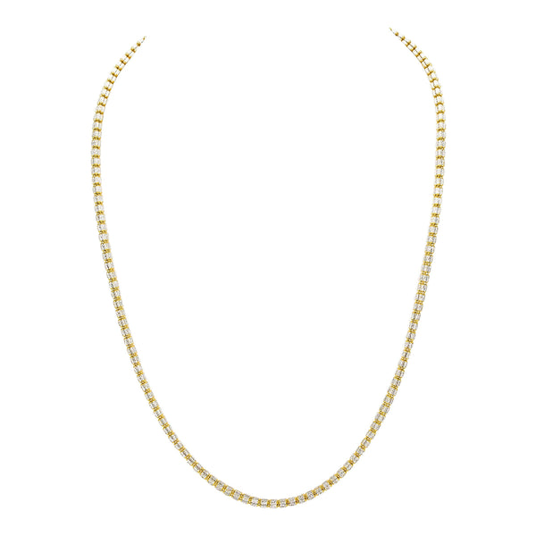 22k Two Tone Gold Layered Oval Ball Chain | 22k Two Tone Gold Layered Oval Ball Chain for women or men. This gorgeous white and yellow gold c...