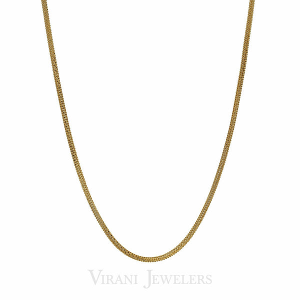 22K Yellow Gold Popcorn Link Classic Chain Necklace for Men | 22K Yellow Gold Popcorn Link Classic Chain Necklace for Men. A thick classic gold necklace for me...