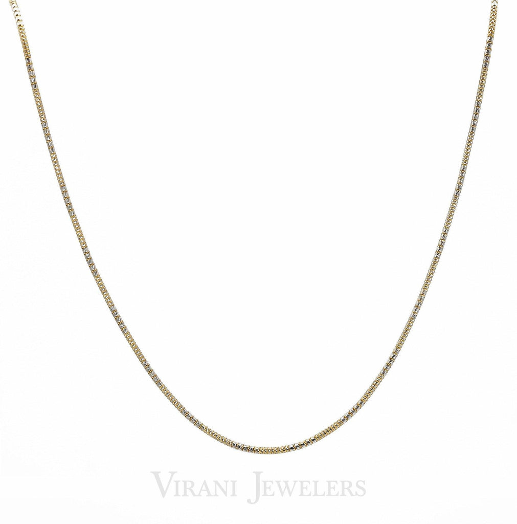 22K Gold Men's Chain With White Gold Accents | Are you looking for a versatile and eye-catching snake chain? Order this beautiful 22K gold chain...
